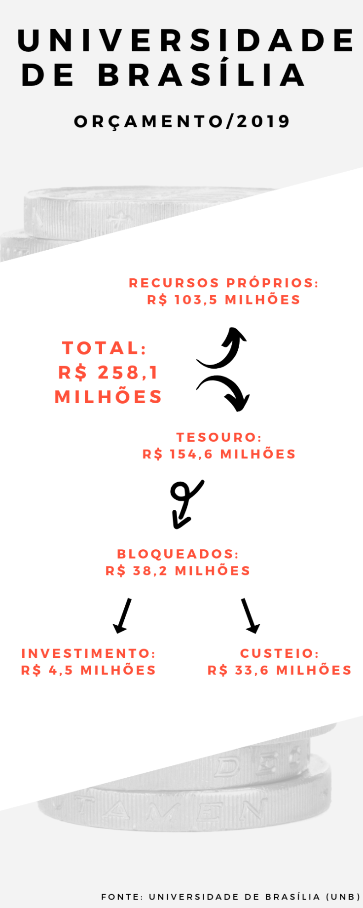INFOGRÁFICO (Orçamento UnB para 2019)